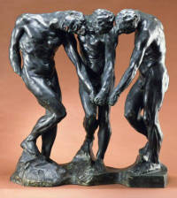 Auguste Rodin. The Three Shades